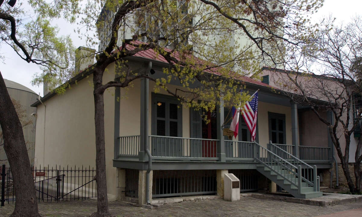 This is the Dashiell House that doubles as the Night In Old San Antonio office. The building is located in La Villita.