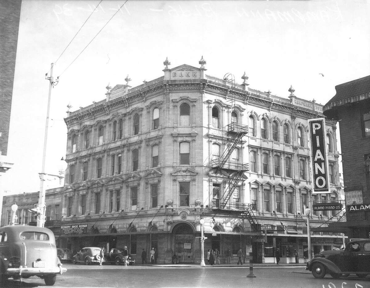 The four-story Kampmann Building at Soledad and Commerce streets - as seen on Nov. 14, 1939 - was considered the city's first skyscraper.