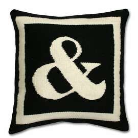 Ampersand pillow by Jonathan Adler