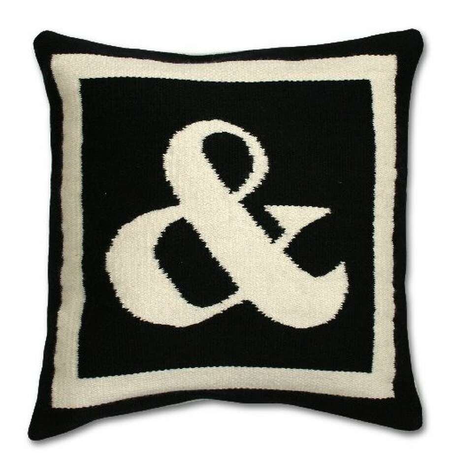 Ampersand pillow by Jonathan Adler
