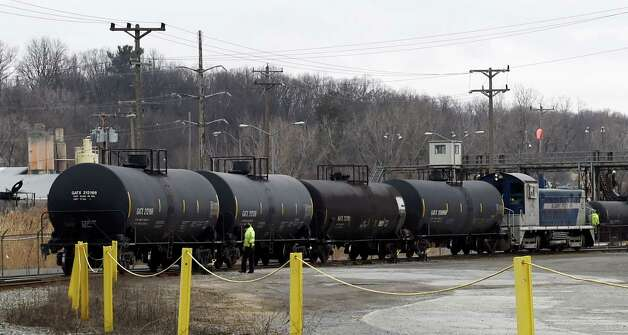 Rail tanker cars sit in the yard at the Port of Albany Tuesday, April 7, 2015, in Albany, N.Y.   (Skip Dickstein/Times Union) Photo: SKIP DICKSTEIN