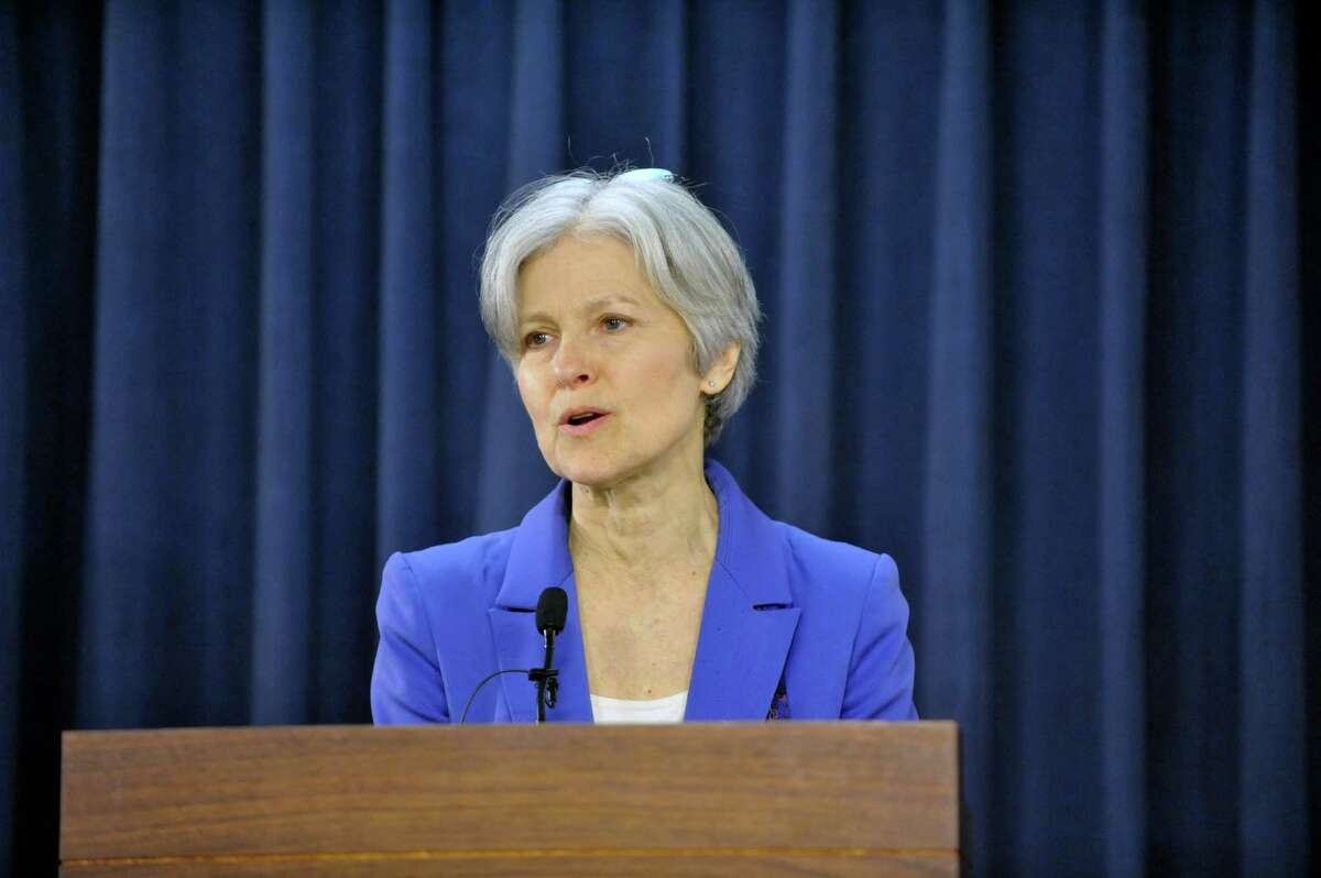 Green Party presidential candidate Jill Stein holds press conference at the Legislative Office Building on Tuesday, April 7, 2015, in Albany, N.Y. (Paul Buckowski / Times Union)