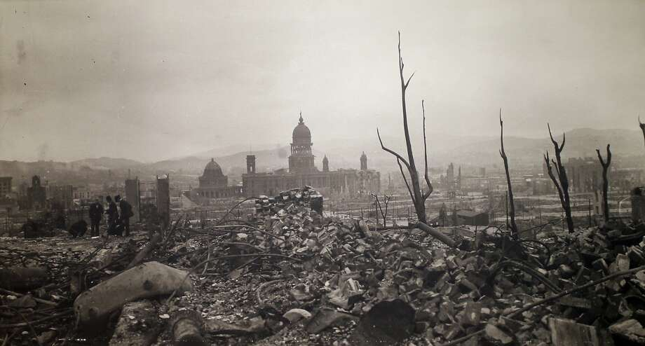 1906 earthquake photo taken by Arnold Genthe at Palace of the Legion of Honor in San Francisco Calif., on Tuesday, April 7, 2015. Photo: Scott Strazzante, The Chronicle