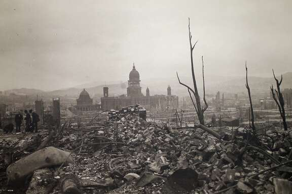 1906 earthquake photo taken by Arnold Genthe at Palace of the Legion of Honor in San Francisco Calif., on Tuesday, April 7, 2015.