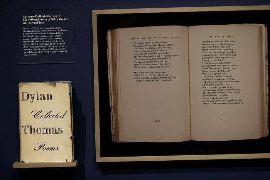 "Lawrence Ferlinghetti's copy of Dylan Thomas' ""Collected Poems."" Photo: Brant Ward, The Chronicle"