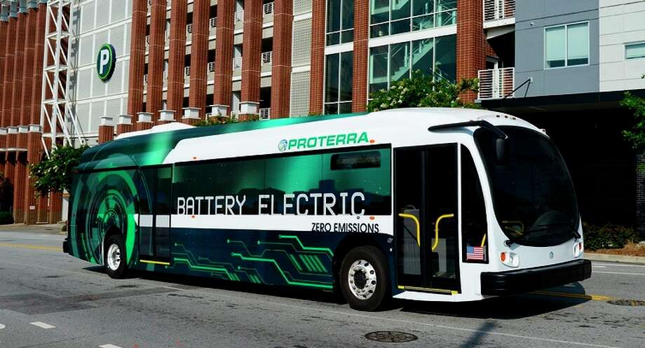 Proterra's electric buses will soon be built at a factory in Los Angeles County. Photo: Proterra / ONLINE_YES