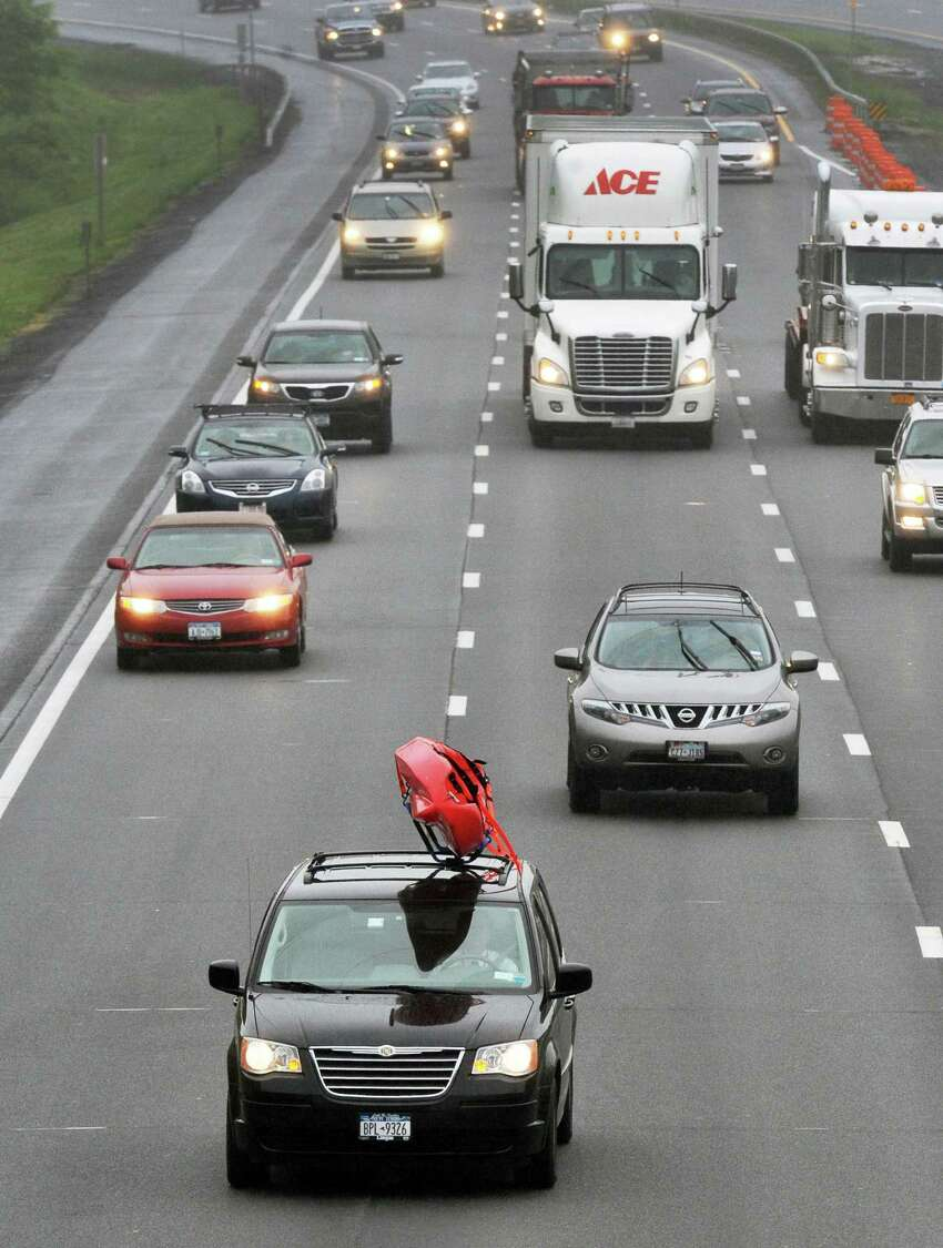 Northbound traffic on the Northway at the start of the Memorial Day weekend Friday, May 24, 2013, in Halfmoon, N.Y. (John Carl D'Annibale / Times Union archive)