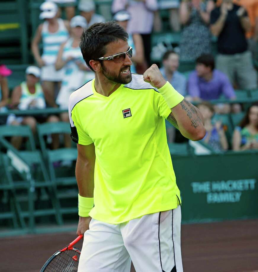 Janko Tipsarevic finds his win over Guilherme Clezar satisfying because of a 533-day ATP match hiatus. Photo: Craig Hartley, Freelance / Copyright: Craig H. Hartley