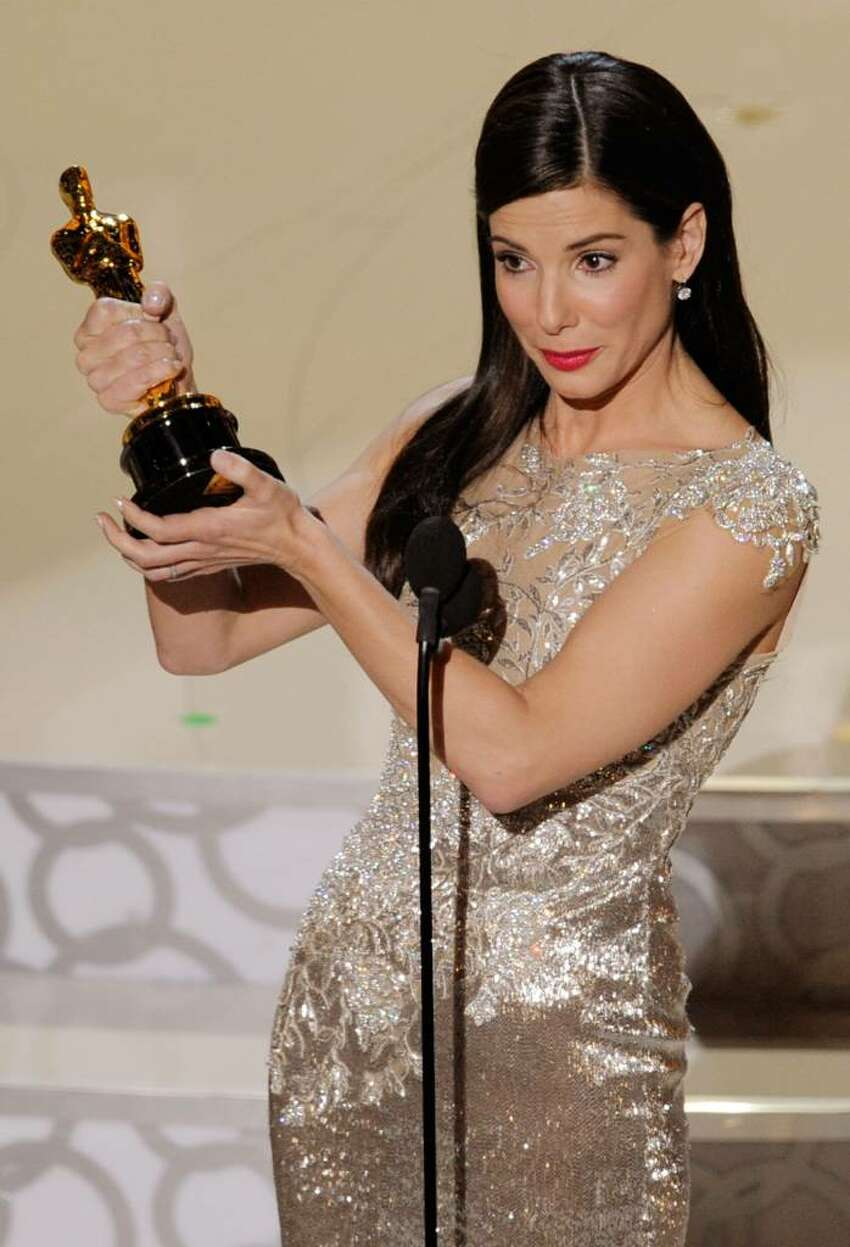 HOLLYWOOD - MARCH 07: Actress Sandra Bullock accepts Best Actress award for