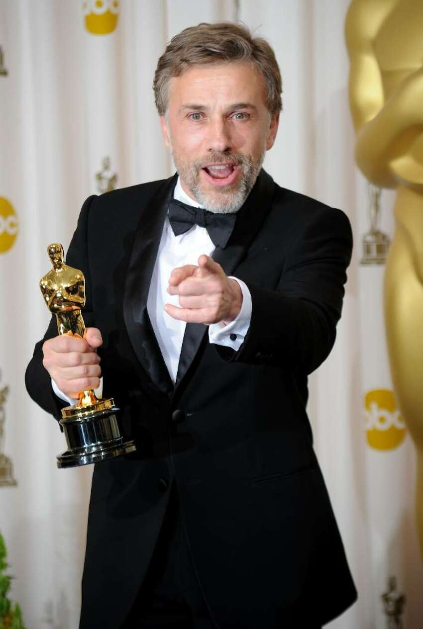 HOLLYWOOD - MARCH 07: (EDITORS NOTE: NO ONLINE, NO INTERNET, EMBARGOED FROM INTERNET AND TELEVISION USAGE UNTIL THE CONCLUSION OF THE LIVE OSCARS TELECAST) Actor Christoph Waltz, winner of Best Supporting Actor award for