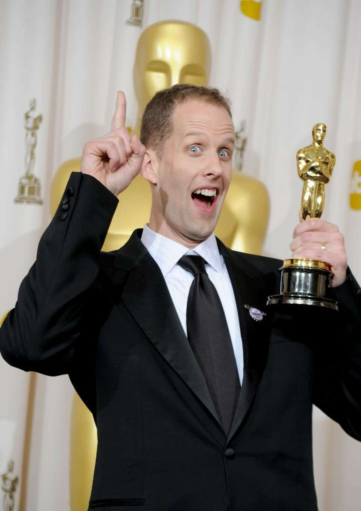 HOLLYWOOD - MARCH 07: (EDITORS NOTE: NO ONLINE, NO INTERNET, EMBARGOED FROM INTERNET AND TELEVISION USAGE UNTIL THE CONCLUSION OF THE LIVE OSCARS TELECAST) Director Pete Docter, winner of Best Animated Feature award for