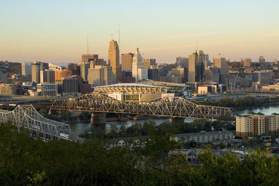 10. CincinnatiMillennial population: 27 percent  | Job postings per 1,000 residents: 46 |  Unemployment rate: 4.9 percent | Median rent 2BR:  $2,138 Photo: Anne Rippy, Getty Images