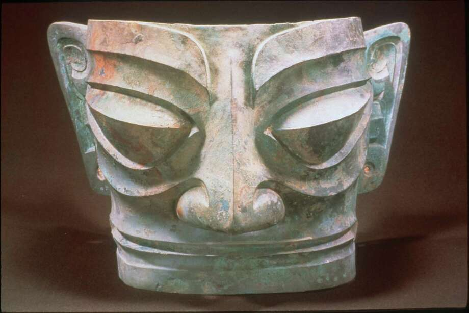Artifacts from the Chinese Shang Dynasty are on view at the Museum of Natural Science's Sanxingdul exhibit. / handout/slide