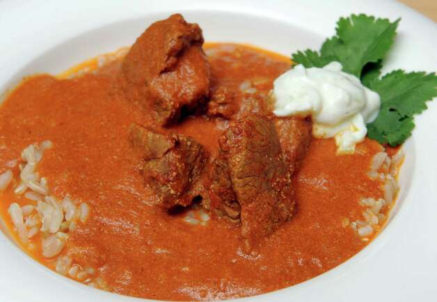 A lamb curry prepared by Caroline Barrett on Wednesday April 1, 2015 in Delmar, N.Y. (Michael P. Farrell/Times Union) Photo: Michael P. Farrell / 00031214A