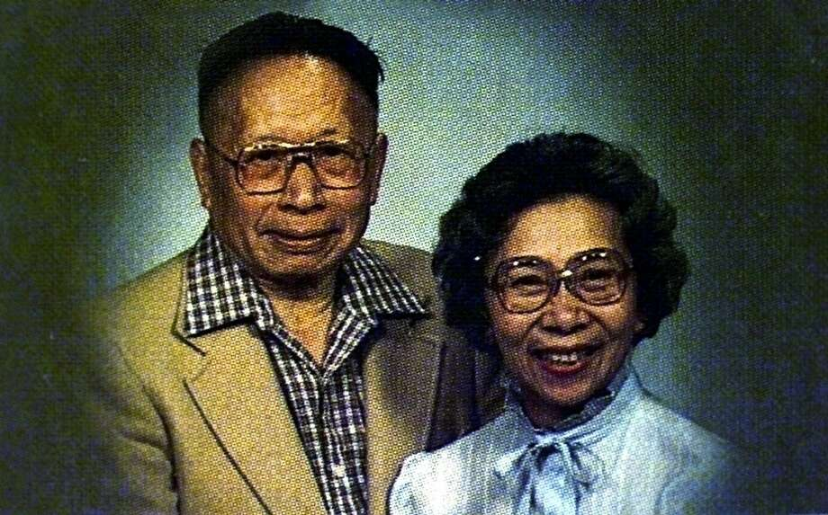 Frederick M. Wong and Lilla C. Wong, of Redwood City, Calif. are shown in this undated family photo, Monday, Nov. 1, 1999. The Wongs were among the passengers of EgyptAir Flight 990, which crashed off the coast of Massachusetts early Sunday morning, October 31, 1999.  Photo: Associated Press