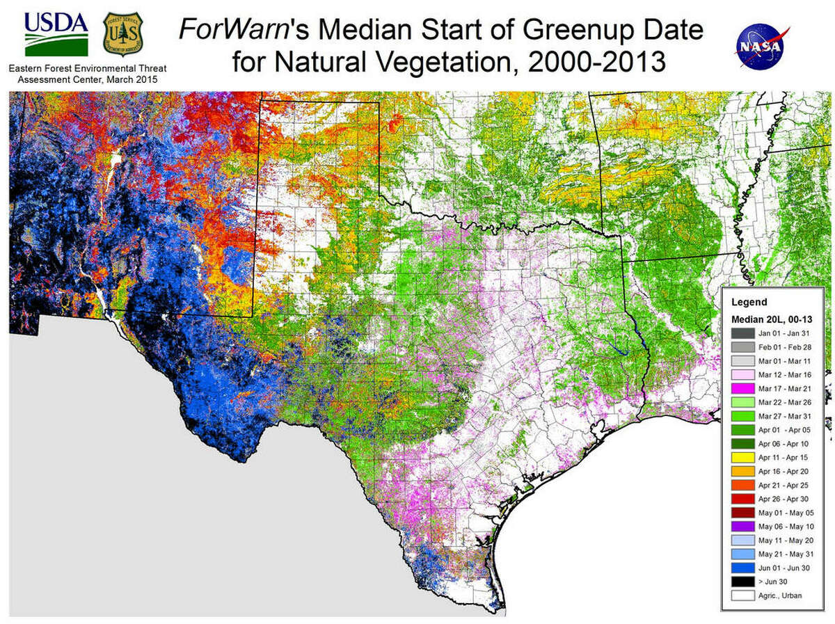 Natural vegetation in Texas Source: U.S. Forest Service/U.S. Department of Agriculture