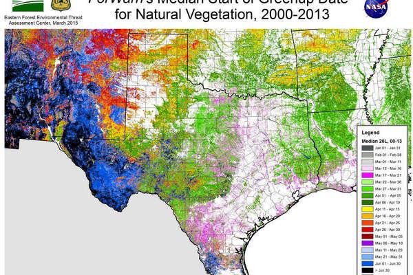 NASA satellites map springtime across the country ... on
