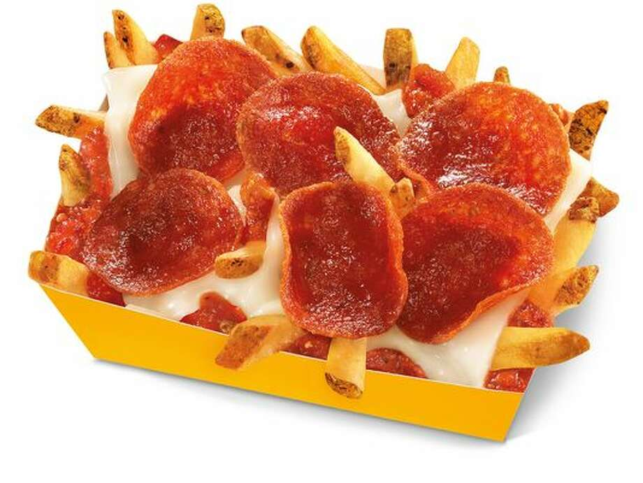 Carl's Jr. tests out pepperoni pizza fries. 