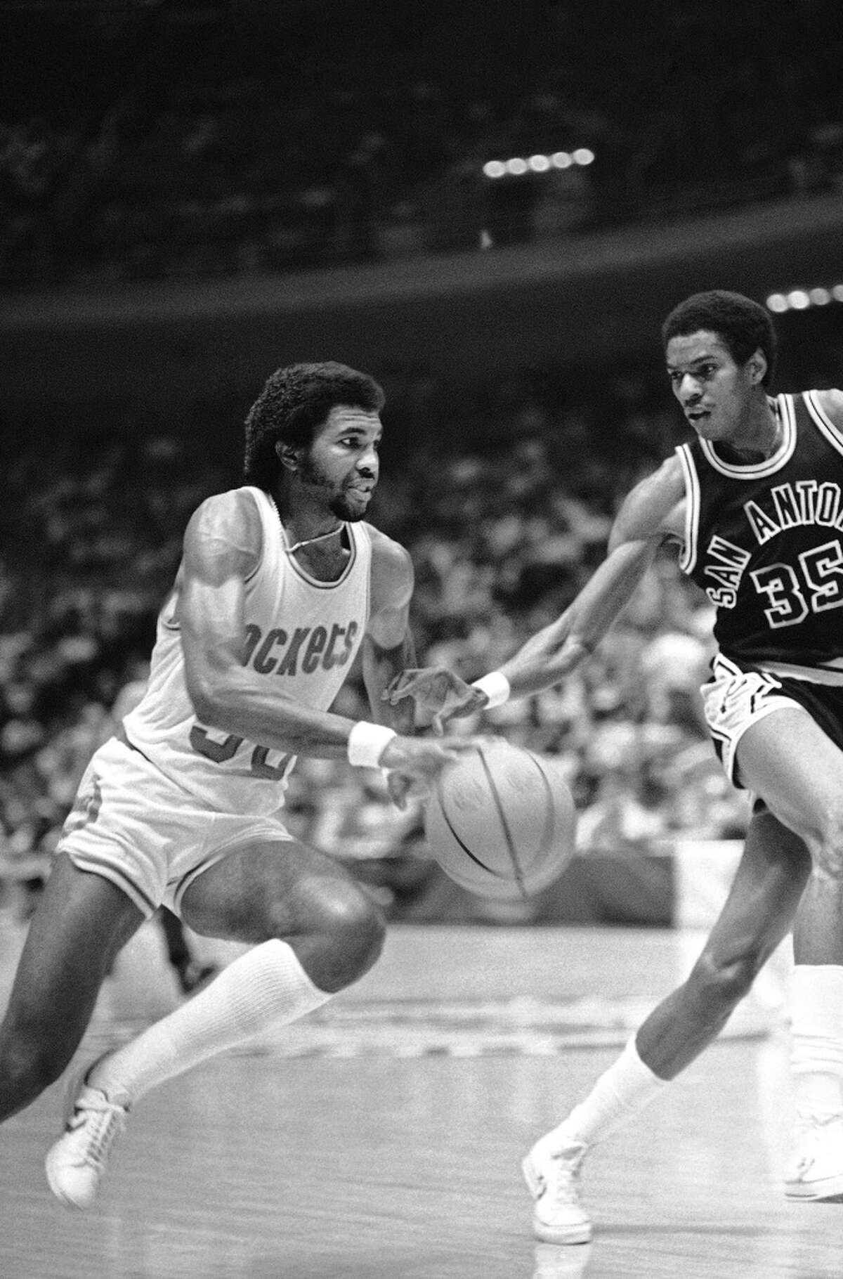 1980: First playoff meeting The teams' first postseason encounter came in 1980, with the Rockets winning the best-of-3 series. Houston rolled 141-120 in Game 3 at The Summit behind big games from Moses Malone (37 points), Calvin Murphy (33) and Robert Reid (20, pictured).