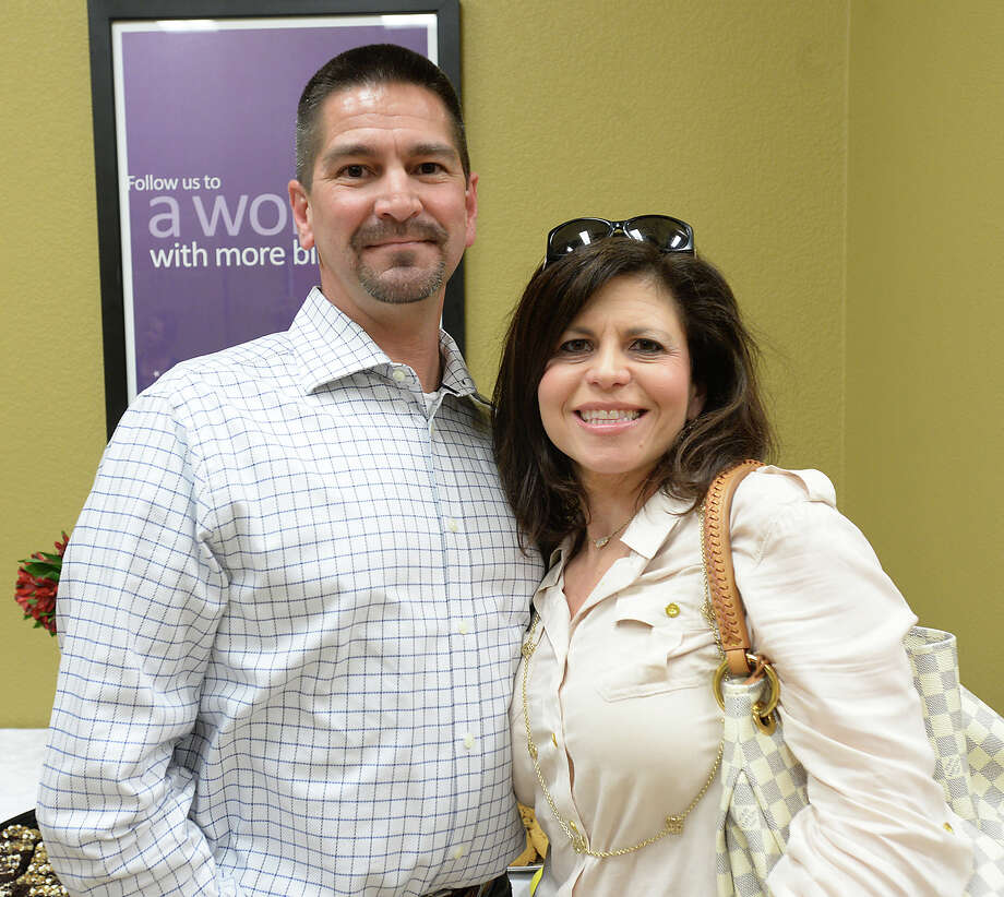 Euric and Kristi Fuselier attended the opening ceremony of the American Cancer Society's new office on Bayou Brandt Drive in Beaumont Wednesday. Photo taken Wednesday, April 8, 2015 Kim Brent/The Enterprise Photo: Kim Brent / Beaumont Enterprise