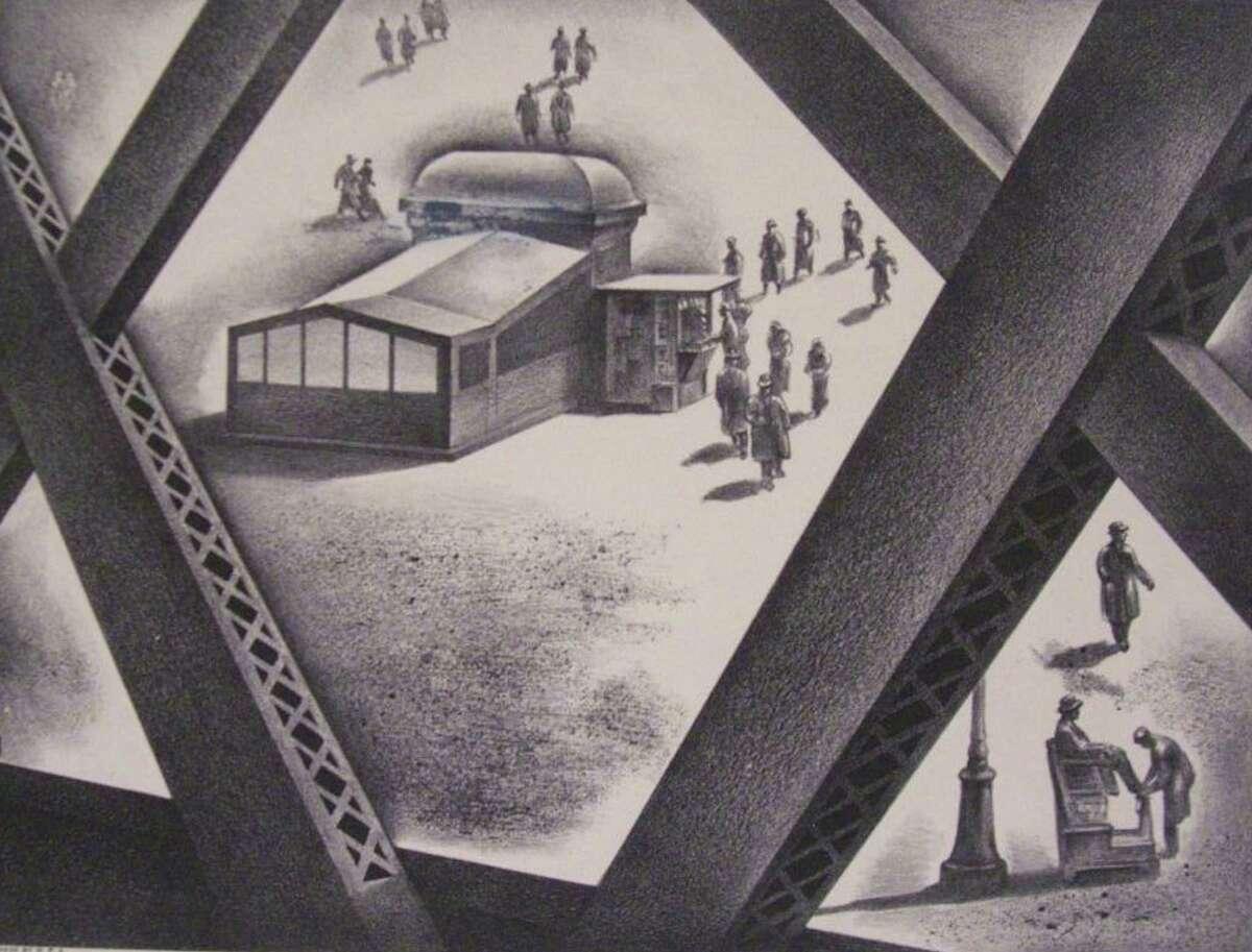 American printmaker and painter Louis Lozowick (1892-1973) created