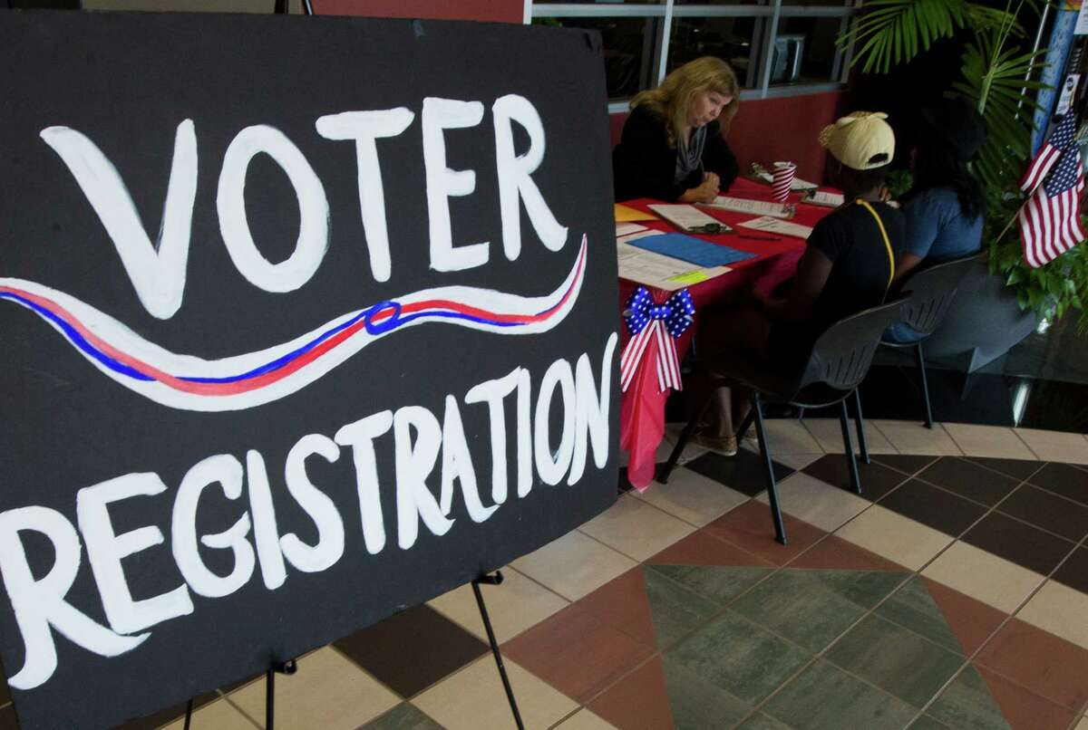 More than 60 percent of Texans support an online voter registration system, according to recent polling by the Pew Charitable Trusts. ( J. Patric Schneider / For the Chronicle )