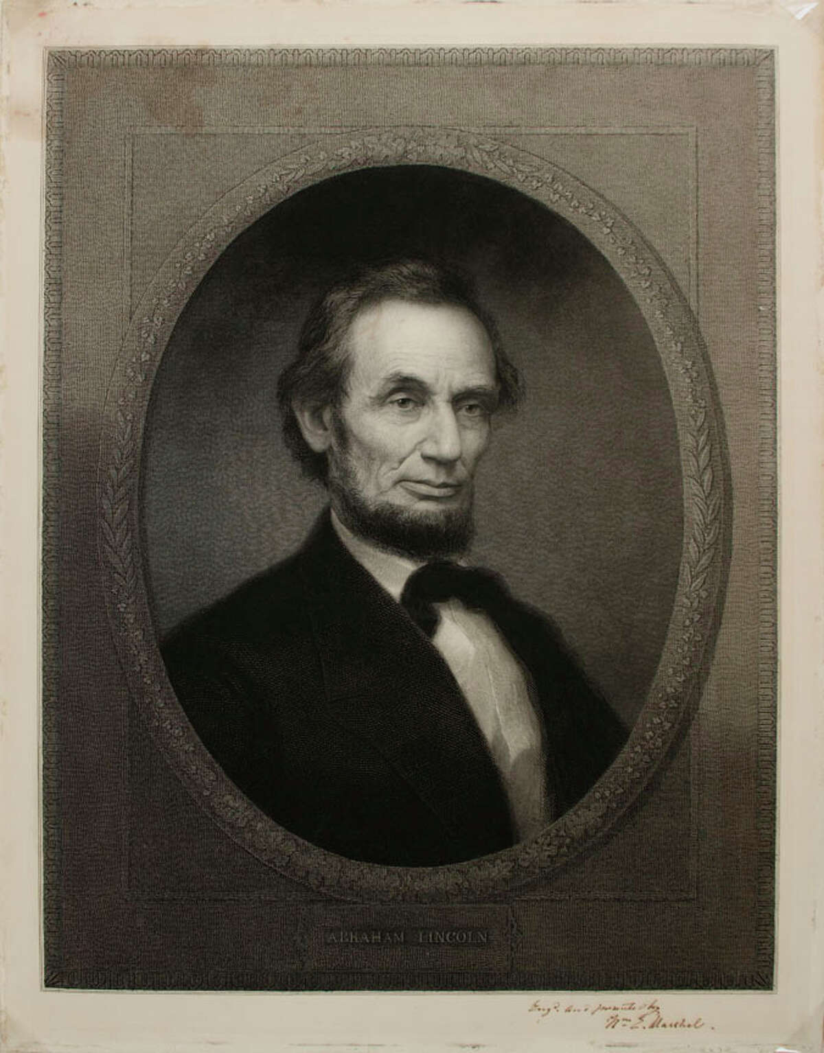 Abraham Lincoln (1809-1865) William Edgar Marshall 1865 Engraving, ht.23 1/2