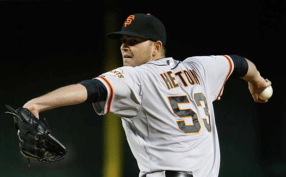 Rookie Chris Heston held the Diamondbacks to two unearned runs in six innings starting in place of the injured Matt Cain. Photo: Christian Petersen / Getty Images / 2015 Getty Images