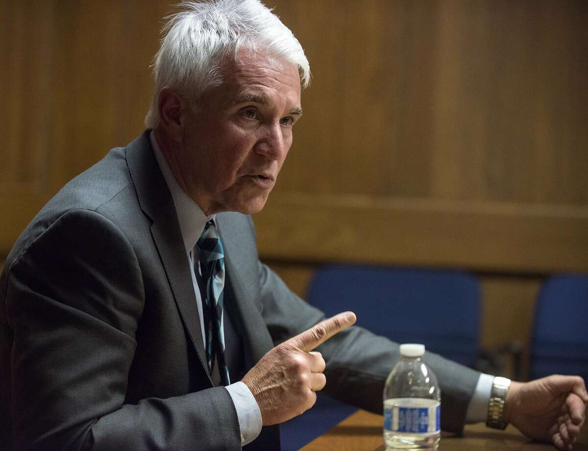 San Francisco District Attorney George Gascón meets with the Chronicle Editorial Board in San Francisco, California on Wednesday, April 8, 2015. Gascón discussed the recent case of SFPD officers sending racist and homophobic texts amongst each other, as well as current crime statistics.
