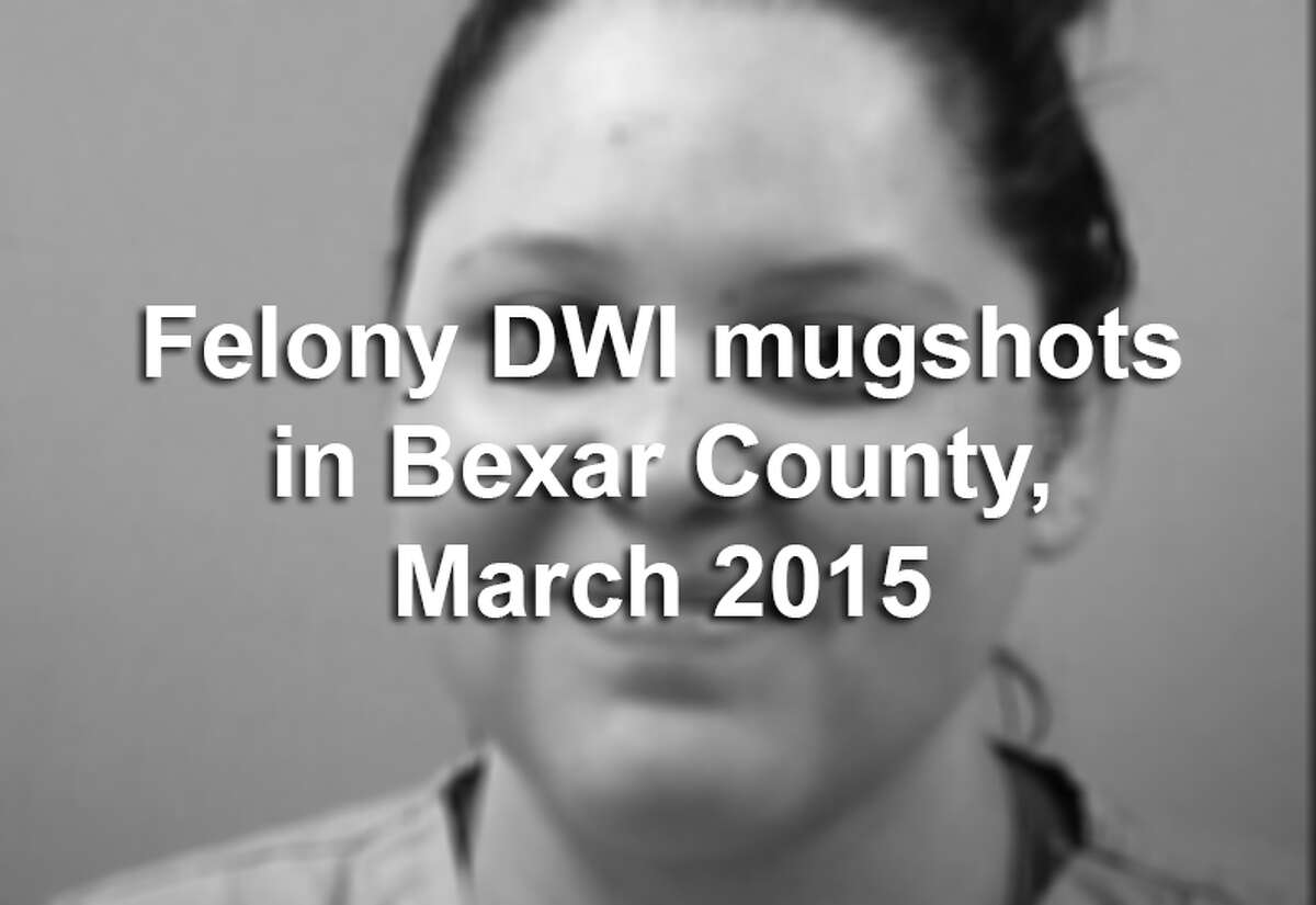 Bexar County law enforcement officers arrested 75 people in March on felony drunken driving charges, according to the Bexar County District Attorney's Office. Scroll through the gallery to see their booking photos.