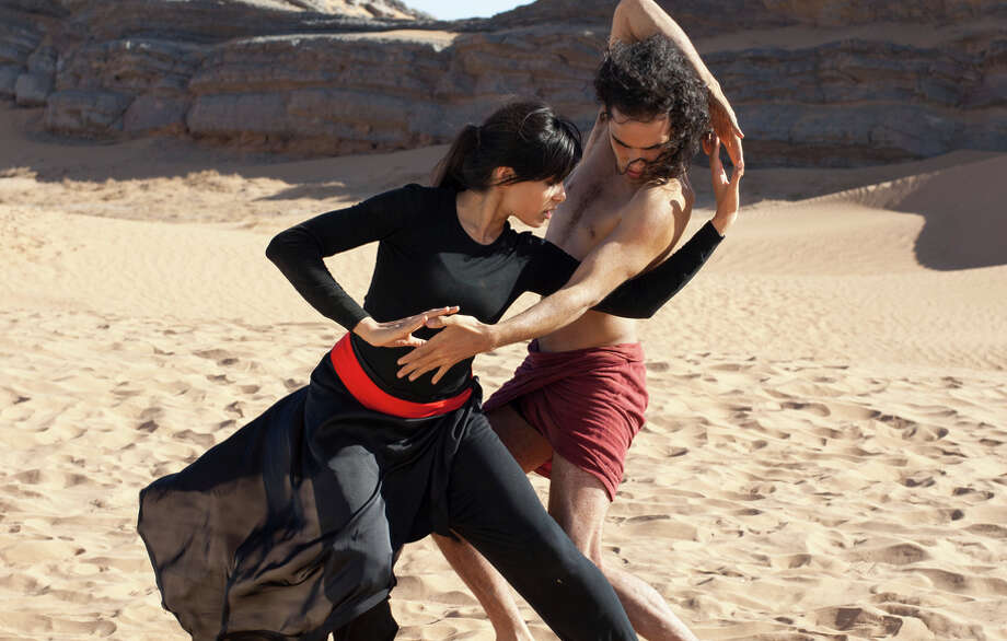 "Freida Pinto (left) and Reece Ritchie star in ""Desert Dancer,"" a moving story based on real-life events."