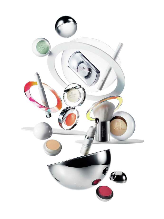Courreges Estee Lauder is a new limited-edition collection inspired by the beauty innovations of Estee Lauder and the fashion aesthetic of designer Andre Courreges. Photo: Estee Lauder / Estee Lauder