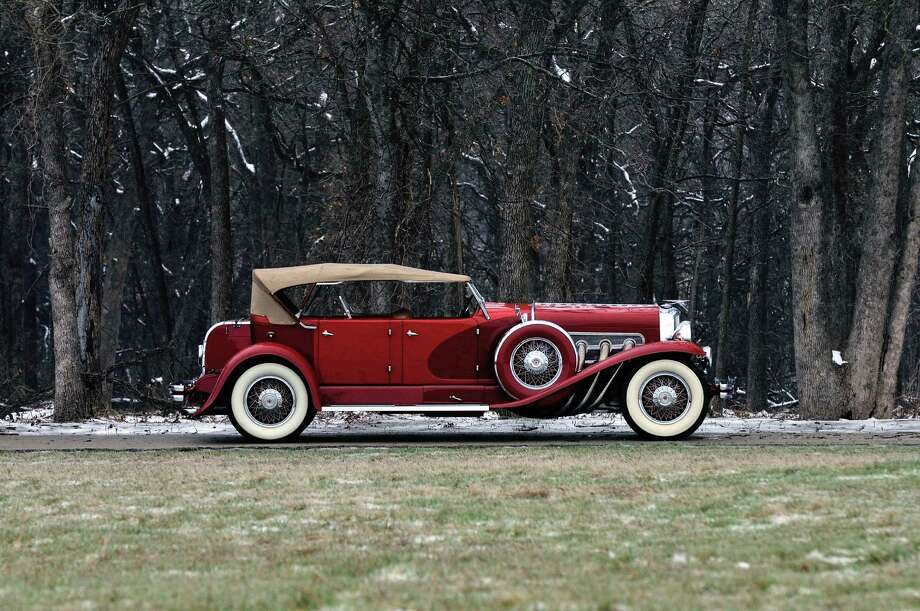 The main feature of the collection is an exquisite 1932 Duesenberg Model J Dual Cowl Phaeton. It has a 420ci engine, a three speed transmission, and a storied history of evolution in its construction and maintenance over the years. Photo: David Newhardt/Courtesy Of Mecum Auctions