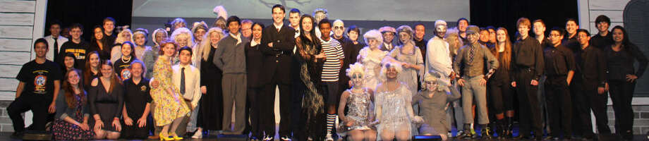 "Spring Woods High School's musical, ""The Addams Family,"" has been selected to be presented on the mainstage at the 2015 International Thespian Festival in Lincoln, Nebraska, June 22-27. Above is the full cast. Photo: Spring Woods High"