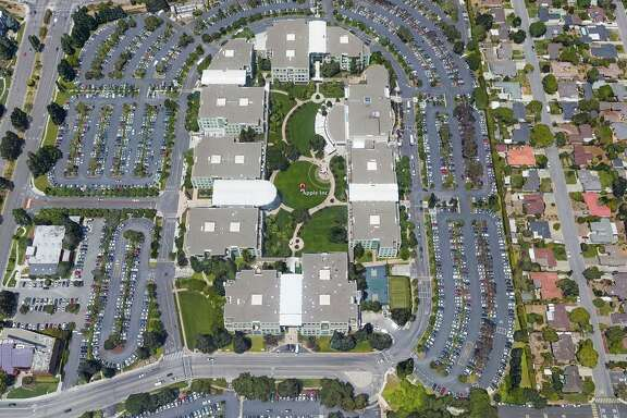 Apple's headquarters in Cupertino has planted drought-tolerant landscaping.