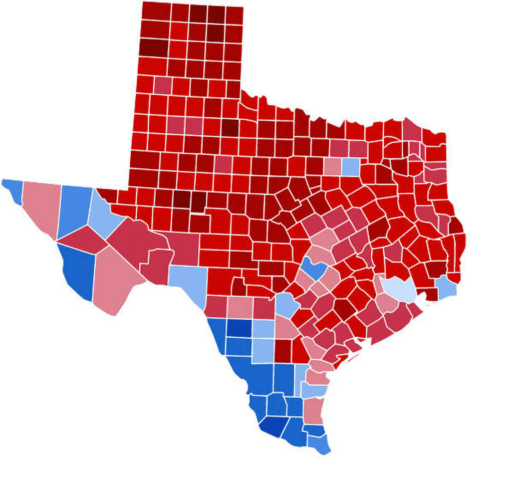 Maps That Help Explain Texas In Houston Chronicle - Texas state map with counties