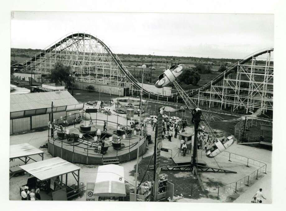 """PHOTOS: Photos of Texas' long-gone theme parksAs the precursor to AstroWorld, Playland Park, above, patrons could choose a tilt-a-whirl, loop-de-loop or """"rollie"""" coaster for their scares.Click through to see more places where Texans had fun in decades past... Photo: File / handout"""