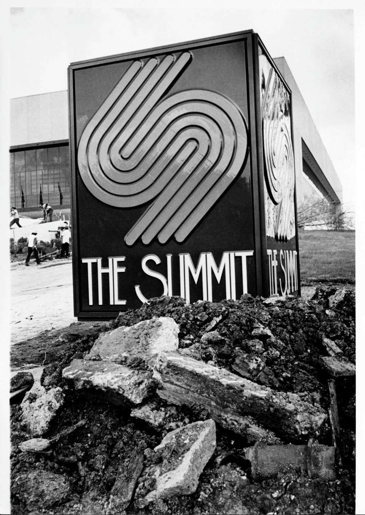 The Summit in its birthing stage in 1975. The building turns 42 years old this month, though most Houstonians only know it as Lakewood Church.
