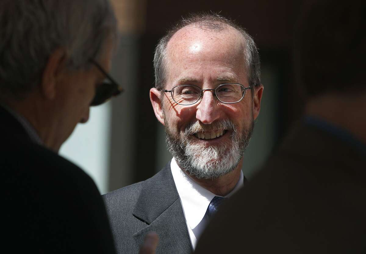 Orinda mayor Steve Glazer speaks with Rep. Mark DeSaulnier (left) at a grand opening ceremony for an affordable senior apartment complex in Orinda, Calif. on Thursday, April 9, 2015. Glazer is facing a runoff election in May against Assemblywoman Susan Bonilla, who is endorsed by DeSaulnier, for the 7th District Senate seat which opened up when DeSaulnier was elected to the U.S. Congress.
