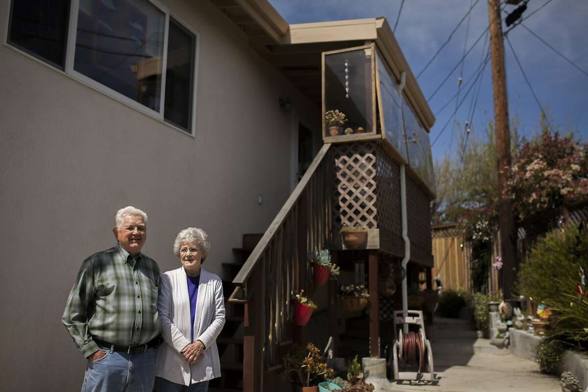 Husband and wife Bob and Nancy Hensel pose for a portrait in their home on April 9th 2015 in San Bruno. They moved back into this house 3 years ago after rebuilding following the 2010 explosion of a PG&E natural gas transmission line which killed eight, injured Fifty-eight and destroyed 38 homes. California utility regulators fined Pacific Gas & Electric Co. $1.6-billion.