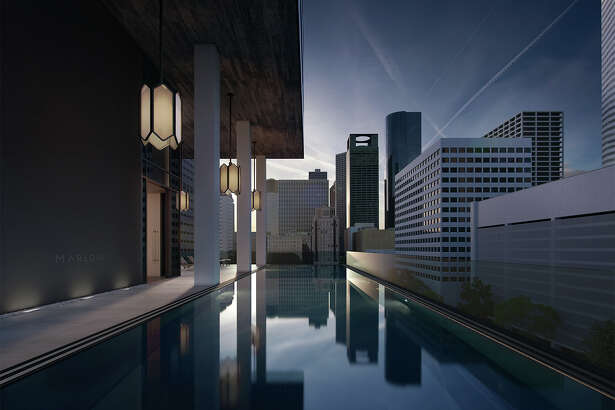 A rendering of the swimming pool at Marlowe, a condominium building proposed downtown.