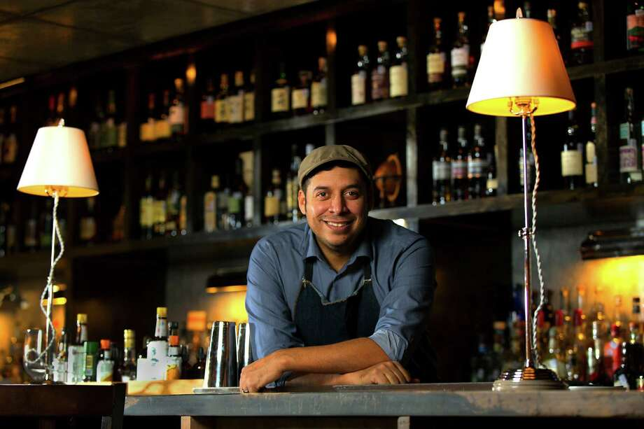Jeret Peña in his The Last Word. He thinks that by 2050, customers will demand more high-quality ingredients in their cocktails. Photo: William Luther /San Antonio Express-News / © 2015 San Antonio Express-News
