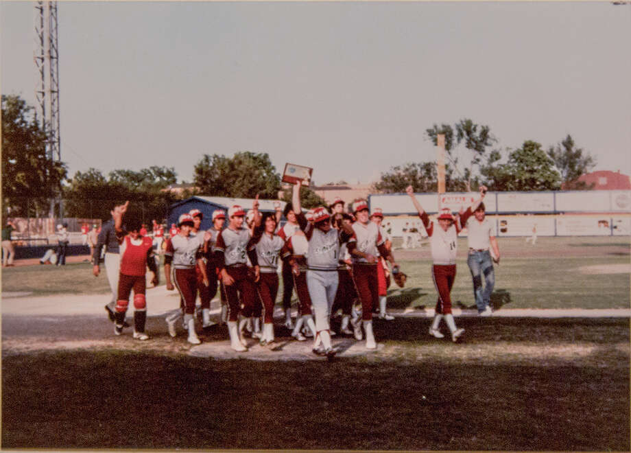 The 1982 TCIL state championship baseball team will be reuniting at St. Anthony High School on on April 10 to meet and practice with the current Yellow Jackets team. Photo: Courtesy Photo / St. Anthony High School
