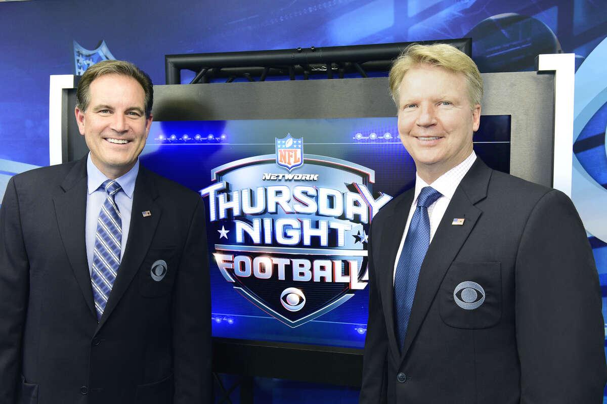 Jim Nantz and Phil Simms, partners on Thursday Night Football for CBS. (John P.Filo / CBS)
