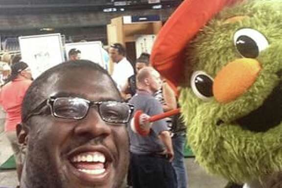 A reader's contribution to #domeselfies at the Astrodome party on April 9.