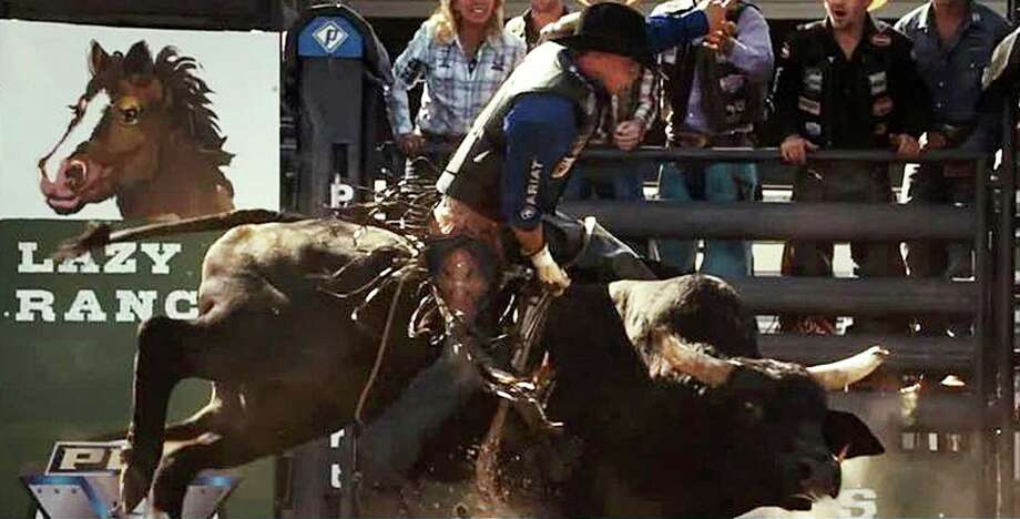 "Scott Eastwood plays a bull rider in ""The Longest Ride,"" a movie adaptation of a Nicholas Sparks' novel. Photo: Contributed Photo / Westport News"