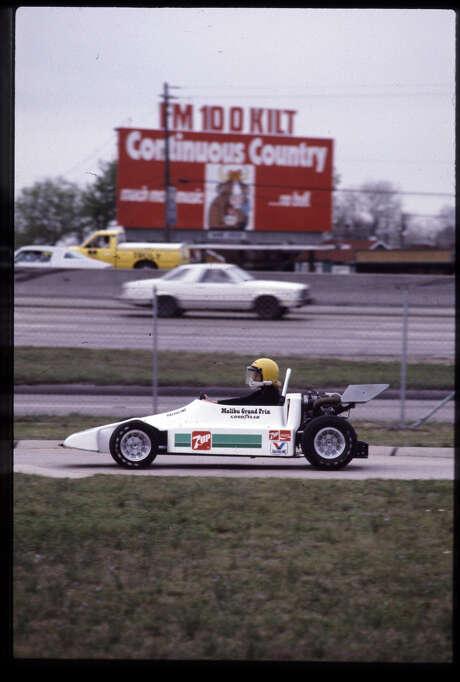 Go-karts at Malibu Grand Prix on Southwest Freeway at Westpark, March 14, 1984. Photo: Geary Broadnax, File  / Houston Post files