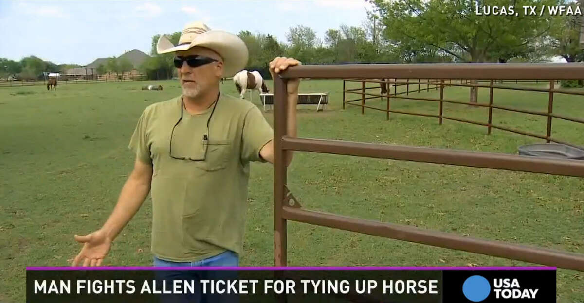Rick Braun was issued a $266 citation by Allen (Texas) police for riding his horse to an area Taco Bell.