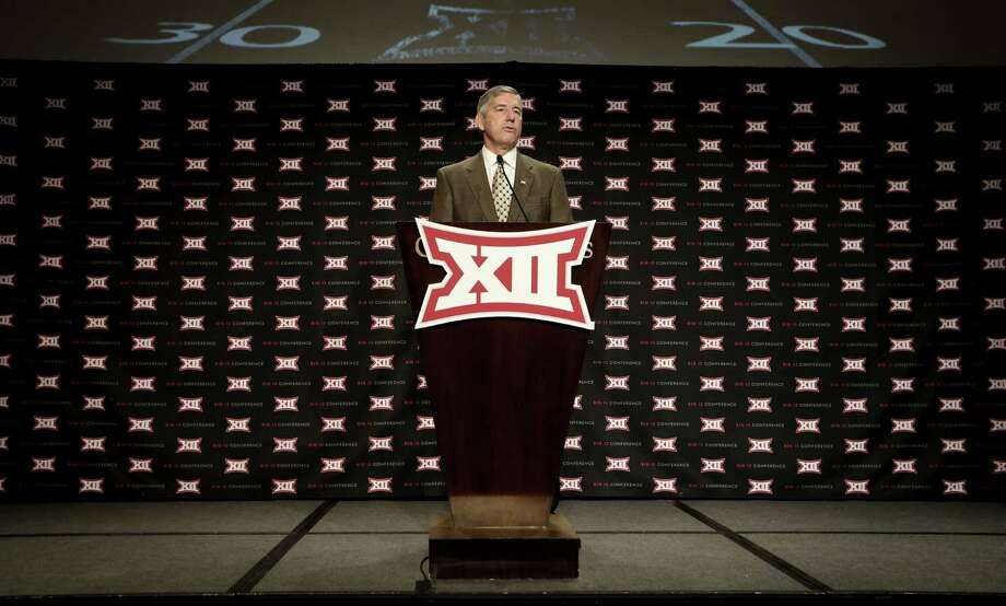 Big 12 Conference commissioner Bob Bowlsby speaks at the opening of football media days in Dallas on July 21, 2014. Photo: LM Otero /Associated Press / AP