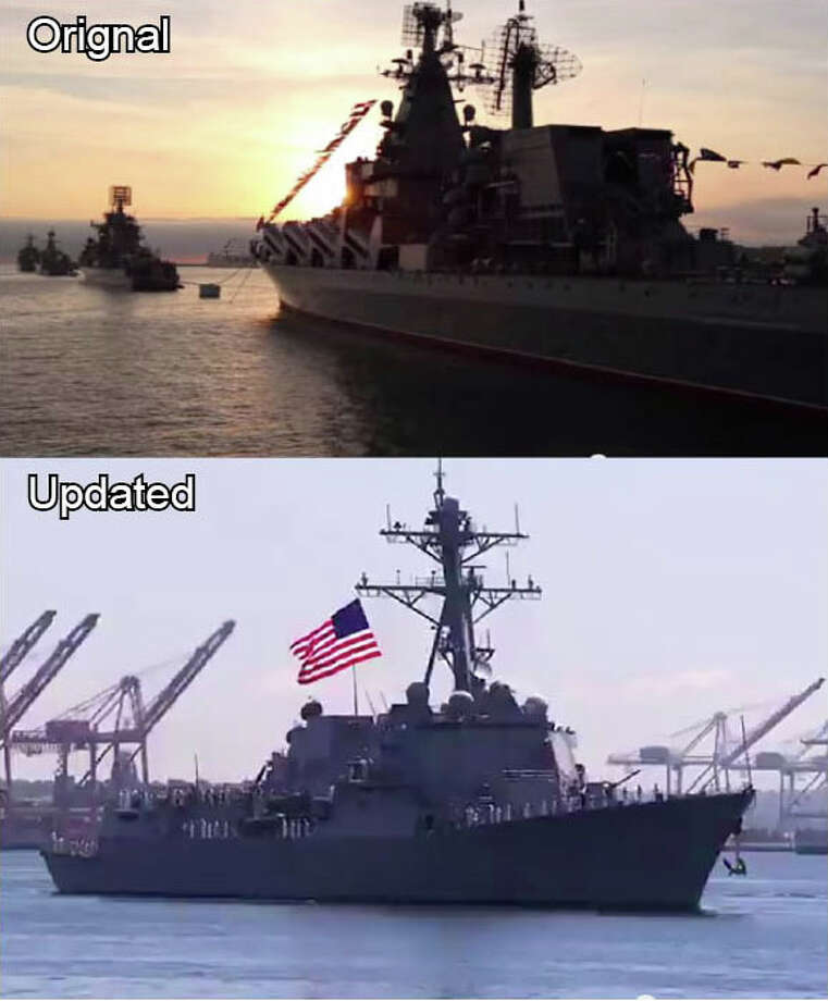 A promotional video by Rick Political Action Committee initially included footage of a Russian battleship battalion in a montage of American armed forces. The two-second scene was swiftly replaces with footage of an American battleship.PHOTOS: Rick Perry's legacy: The good, the bad, the strange